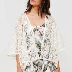 Sheer Crochet Kimono